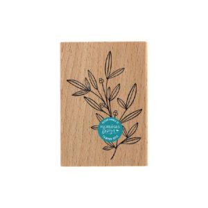 Tampon Bois Doux Feuillage Florilèges Design