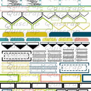 Planche «Les Embellissements» Collection Hier Aujourd'hui Demain de Quiscrap