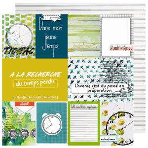 Papier «Les Etiquettes» Collection Hier Aujourd'hui Demain de Quiscrap