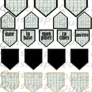 Planche Les Etiquettes Chevronnées By Quiscrap