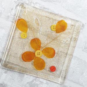 Couverture pour MiniAlbum en epoxy «Floral» By Quiscrap