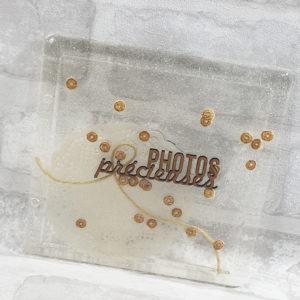 Couverture pour MiniAlbum en epoxy «Photos Précieuses» By Quiscrap