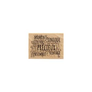 Tampon bois Vintage Florilèges Design