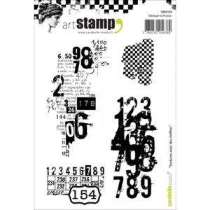 Tampon cling Textures avec des chiffres Carabelle Studio