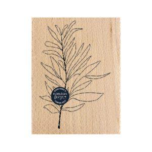Tampon bois feuille au vent Florilèges Design