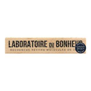 Tampon bois Laboratoire du Bonheur Florilèges Design