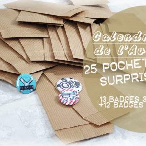 Calendrier de l'Avent 100% Quiscrap: 25 badges