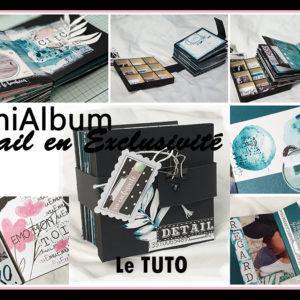Tuto MiniAlbum Détail En Exclusivité – Premiers pas à l'Aquarelle