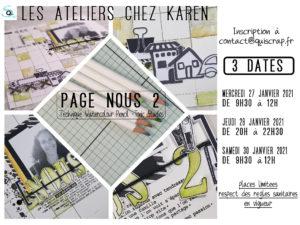 Lancement: Les Ateliers de scrap chez Karen à Janzé (35)