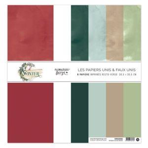 Kit Papiers Unis OH WINTER Florilèges Design