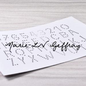 Set de dies Alphabet Troué de Marie-LN Geffray