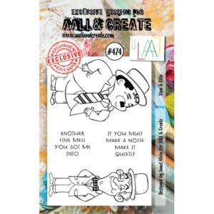 Tampon clear AALL and Create Stamp Set -474 Stan & Ollie