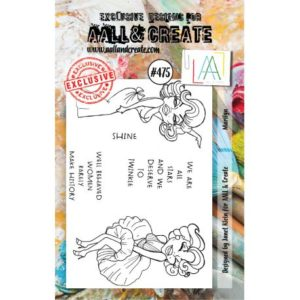 Tampon clear AALL and Create Stamp Set -475 Marilyn
