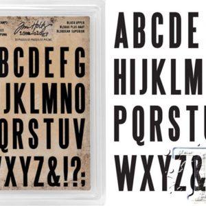 Tampons mousse Alphabet Majuscule Tim Holtz
