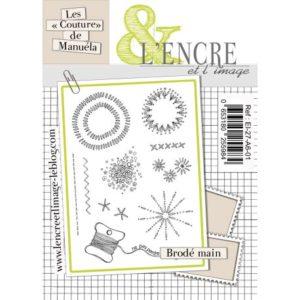 Tampon clear Brodé Main L'Encre et L'Image