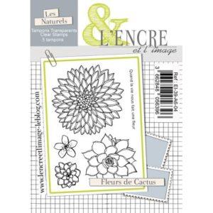 Tampon clear – Fleurs de Cactus – L'Encre et l'Image