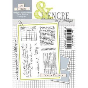 Tampon clear – Vieux Papiers – L'Encre et l'Image