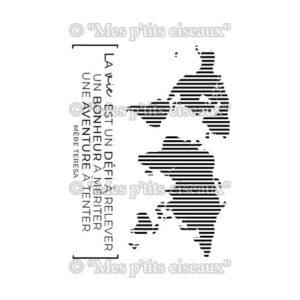 Tampons clear Mappemonde – Mes Ptits Ciseaux