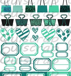 Planche Des Petits trucs pour Embellir…Aqua By Quiscrap