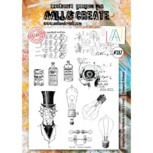 Tampon clear AALL and Create Stamp Set -387 Steampunk Alchimist