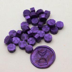 Lot de 80 pastilles de cire à cacheter (soit 2 cachets de 25mm en 20 couleurs)