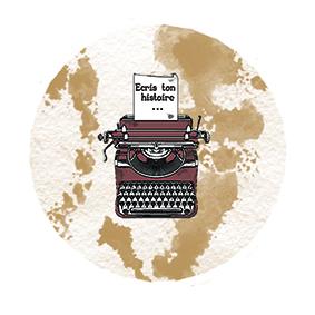 Badge Ecris ton Histoire By Quiscrap