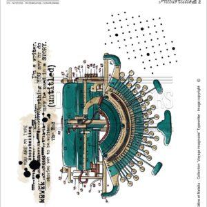 Tampon EZ Typewriter Chou&Flowers