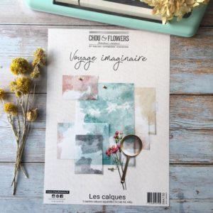 Collection Calques Aquarelle Voyage Imaginaire Chou&Flowers