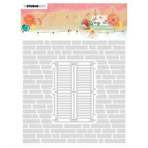 Die Fenêtre + Classeur d'Embossage Mur Studio Light n°11