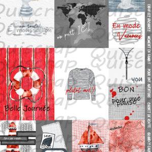 Planche «Les Embellissements» Collection Destination Terre Mer de Quiscrap
