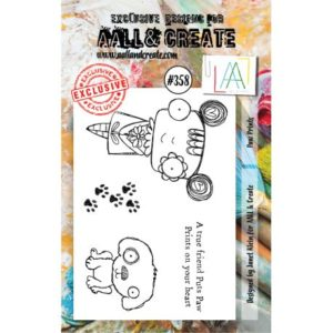 Tampon clear AALL and Create Stamp Set -358 Paw Prints