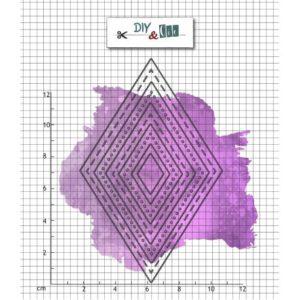 Set de dies Bazik : losanges – DIY and Cie
