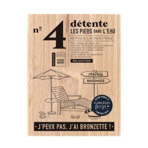 Tampon bois Les Pieds dans l'eau Florilèges Design