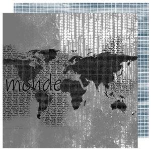 Papier Dans mon Monde Collection Destination Terre Mer de Quiscrap
