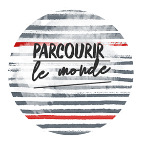 Badge Parcourir le Monde Collection Destination Terre Mer de Quiscrap