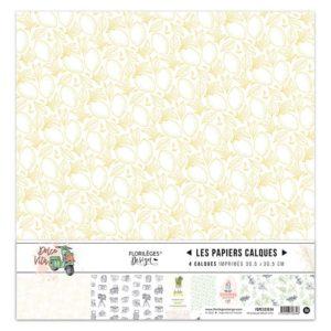 Kit Papiers Calques Dolce Vita Florilèges Design