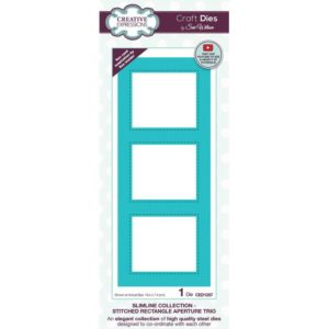 Die Slimline cousues trio ouverture rectangle Creative Expressions