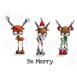 Tampon Oddball reindeer set Stamping Bella