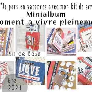 Kit «Je Pars en vacances avec kit de scrap: été 2021» (Minialbum/8 Pages de scrap)