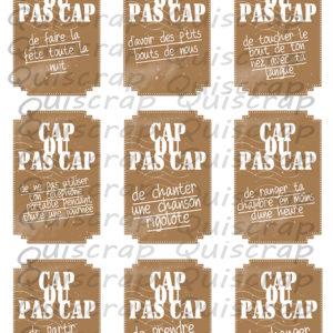 Planche de Dies-cut Cap ou pas Cap By Quiscrap