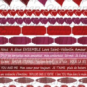 Planche de Dies-cut La Saint-Valentin By Quiscrap