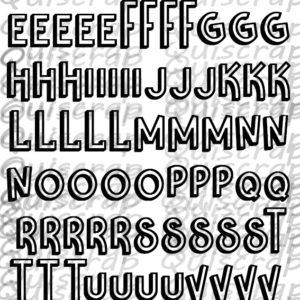 Planche de Dies-cut L'Alphabet By Quiscrap