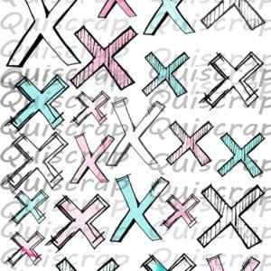 Planche de Dies-cut Les Croix By Quiscrap