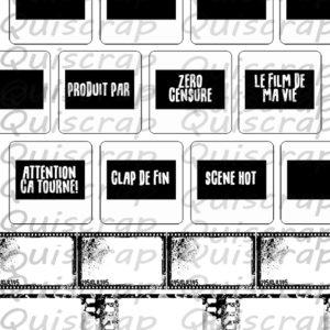 Planche de Dies-cut Les Diapos By Quiscrap