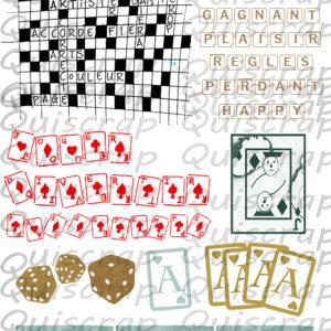 Planche de Dies-cut Les Jeux de Réflexion By Quiscrap