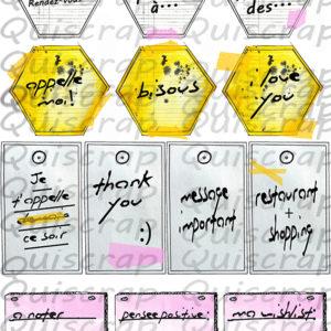 Planche de Dies-cut Les Petits Papiers By Quiscrap