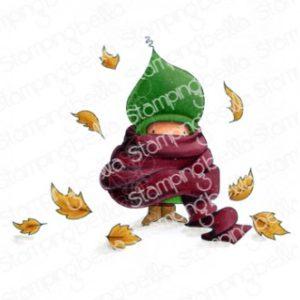 Tampon bundle girl in a pile of leaves Stamping Bella