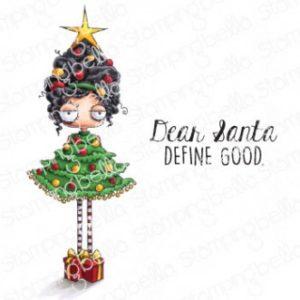 Tampon Christmas Tree Oddball Girl Stamping Bella