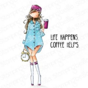 Tampon Curvy Girl  Loves Coffee Stamping Bella