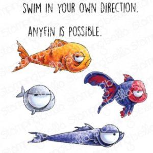 Tampon Oddball Fish Set Stamping Bella